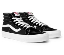 OG SK8-Hi LX Leather-Trimmed Suede and Canvas High-Top Sneakers