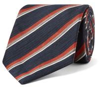 8cm Striped Linen and Silk-Blend Jacquard Tie