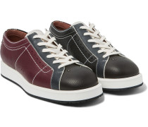 Leather Bowling Sneakers