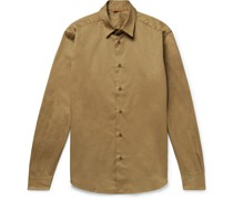 Coppi Slim-Fit Cotton and Wool-Blend Twill Shirt