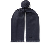 Fringed Linen, Cashmere and Silk-Blend Scarf