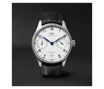 Portugieser Automatic 42.4mm Stainless Steel and Alligator Watch, Ref. No. IW500705