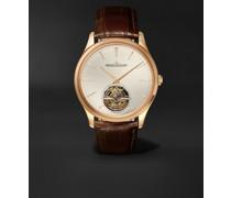 Master Ultra Thin Tourbillon Automatic 40mm 18-Karat Pink Gold and Alligator Watch, Ref. No. 1682410