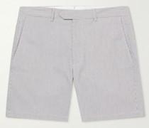 Perseus Striped Stretch-Cotton Seersucker Shorts