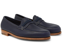 Tore Leather Penny Loafers
