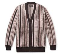 Striped Fleece Cardigan