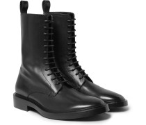 Leather Derby Combat Boots