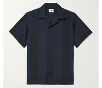 Oliver Camp-Collar Striped Woven Shirt