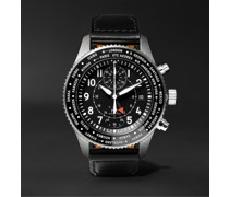 Pilot's Timezoner Automatic Chronograph 45mm Stainless Steel and Leather Watch, Ref. No. IW395001