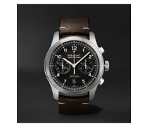 ALT1-C Griffon Automatic Chronograph 43mm Stainless Steel and Leather Watch, Ref. No. ALT1-C-GRIFFON-R-S