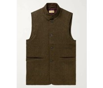 Hawick Wool and Cashmere-Blend Tweed Gilet