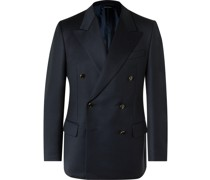 Slim-Fit Double-Breasted Wool Blazer
