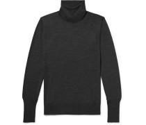 Mélange Merino Wool Rollneck Sweater