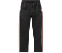 Buck Slim-fit Striped Grosgrain-trimmed Satin Sweatpants