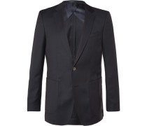 Blue Nordon Slim-fit Birdseye Wool Blazer