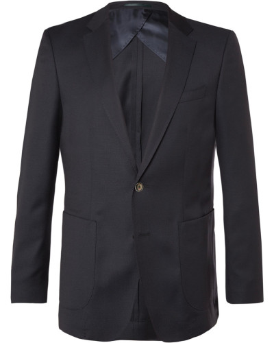 Blue Nordon Slim-fit Birdseye Wool Blazer