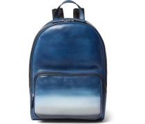 Time Off Dégradé Polished-leather Backpack