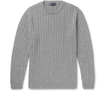 Slim-fit Cable-knit Cashmere Sweater