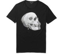 Slim-fit Skull-print Cotton-jersey T-shirt