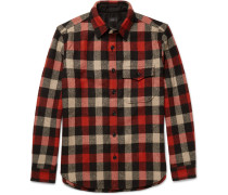 Plaid Wool-blend Overshirt