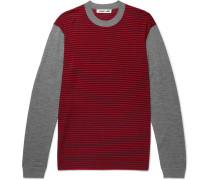 Slim-fit Striped Merino Wool Sweater