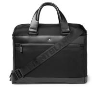 Nightflight Leather-trimmed Nylon Briefcase