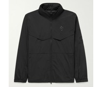 Essentials Storm Logo-Appliquéd Shell Hooded Jacket