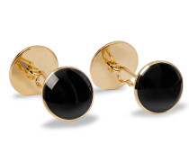 18-Karat Gold Onyx Cufflinks