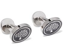 Enamelled Silver-tone Cufflinks