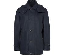 Cotton-blend Gabardine Hooded Coat