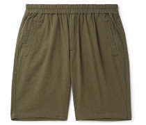 Crinkled-Cotton Shorts