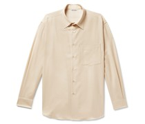 Brushed Wool-Twill Shirt