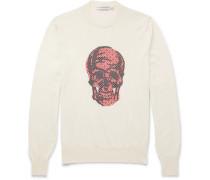 Jacquard-knit Wool Sweater