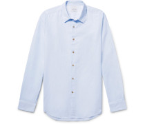 Slim-fit Slub Cotton Shirt
