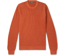 Girocollo Riverside Garment-Dyed Ribbed Cashmere Sweater
