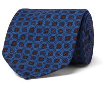 8.5cm Printed Silk-faille Tie