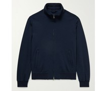 Wool and Cotton-Blend Jersey Jacket