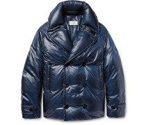 Quilted Shell Down Peacoat