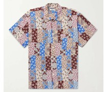 Eastern Paisley Camp-Collar Printed Woven Shirt