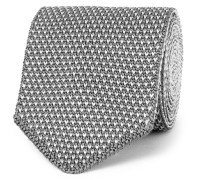 6.5cm Reversible Two-tone Knitted Silk Tie