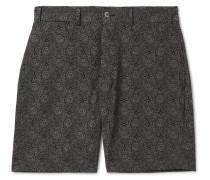 Printed Seersucker Shorts