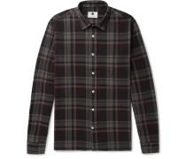 Basso Checked Cotton-flannel Shirt