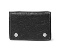 Arena Mini Textured-leather Trifold Cardholder