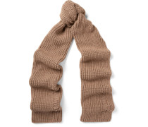 Ribbed Alpaca And Wool-blend Scarf