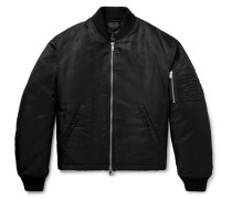 Oversized Appliquéd Nylon Bomber Jacket