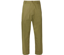 Buzzard Garment-dyed Cotton Trousers