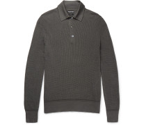 Knitted Cotton-blend Polo Shirt