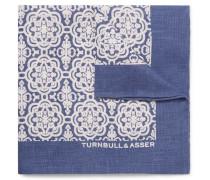Printed Linen Pocket Square