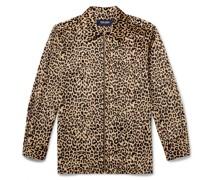 Leopard-Print Velour Shirt
