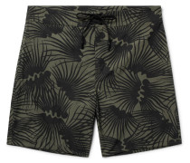 Happy Evolution Long-length Printed Econyl Swim Shorts